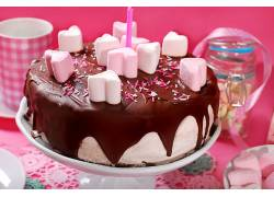 食物,蛋糕,棉花糖,巧克力,壁纸