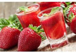 食物,草莓,水果,玻璃,水果,喝酒,浆果,壁纸