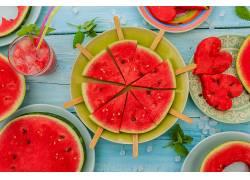 食物,西瓜,水果,冰,奶油,水果,夏天,壁纸