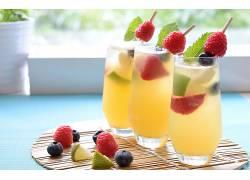 食物,鸡尾酒,喝酒,玻璃,水果,浆果,壁纸