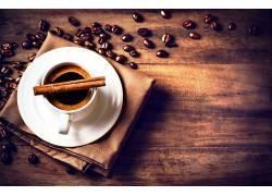食物,咖啡,杯子,咖啡,豆子,肉桂色,壁纸图片