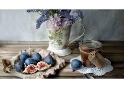 食物,无花果,水果,仍然,生活,投手,花,壁纸