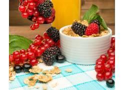 774725,食物,早餐,Muesli,浆果,蓝莓,无核小葡萄干,壁纸