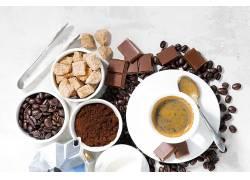 787244,食物,咖啡,杯子,巧克力,糖,咖啡,豆子,壁纸