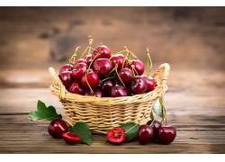 898841,食物,樱桃,水果,水果,篮子,仍然,生活,壁纸
