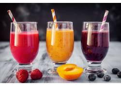 872279,食物,思慕雪,喝酒,玻璃,水果,覆盆子,蓝莓,杏树,壁纸
