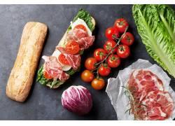 840065,食物,三明治,面包,番茄,肉,仍然,生活,壁纸