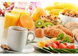 790122,食物,早餐,仍然,生活,咖啡,杯子,肉桂色,果汁,橙色的,牛角
