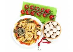 845859,食物,意大利面,蘑菇,番茄,仍然,生活,壁纸