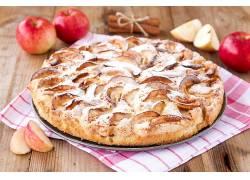 809671,食物,馅饼,面粉糕饼,苹果,仍然,生活,壁纸