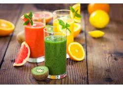 803321,食物,思慕雪,喝酒,玻璃,水果,柠檬,猕猴桃,橙色的,壁纸