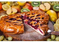 873367,食物,馅饼,面粉糕饼,水果,仍然,生活,壁纸