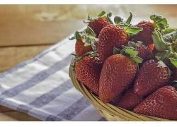 880047,食物,草莓,水果,水果,浆果,壁纸