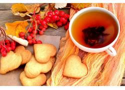 810879,食物,茶,杯子,饼干,无核小葡萄干,壁纸