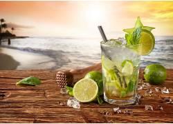 831226,食物,喝酒,玻璃,地平线,仍然,生活,海洋,石灰,壁纸