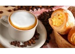 829841,食物,咖啡,杯子,咖啡,豆子,面粉糕饼,壁纸