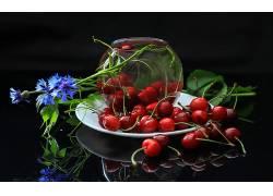 830103,食物,樱桃,水果,水果,反射,仍然,生活,壁纸