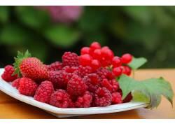 875711,食物,浆果,水果,草莓,覆盆子,无核小葡萄干,壁纸
