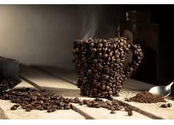 831931,食物,咖啡,咖啡,豆子,杯子,仍然,生活,壁纸