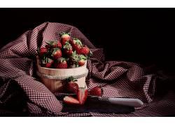831945,食物,草莓,水果,水果,浆果,仍然,生活,壁纸
