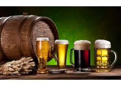 812618,食物,啤酒,玻璃,桶,酒精,喝酒,壁纸