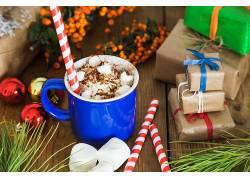 885476,食物,热的,巧克力,仍然,生活,杯子,棉花糖,糖果,手杖,礼物