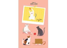 可爱小猫萌宠插图