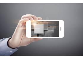 智能手机商务科技海报