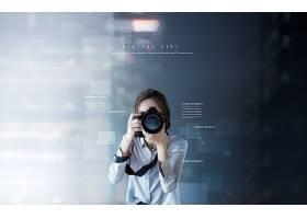 高端摄影机商务科技海报