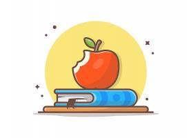 书本上的苹果