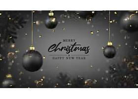 黑色圣诞球装饰