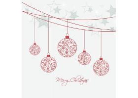 圣诞球装饰元素