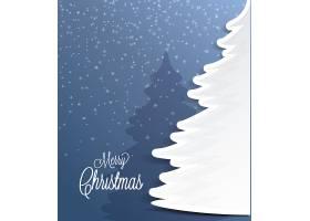 雪花圣诞树海报背景