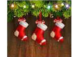圣诞袜背景