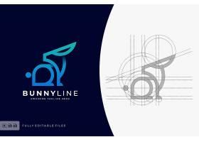 兔子辅助线标志设计