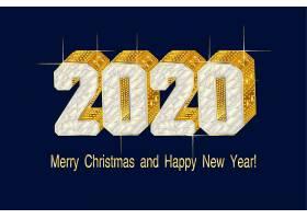 白金色2020鼠年素材