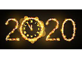 烟花2020鼠年素材