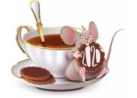 创意卡通老鼠与饮料2020鼠年素材