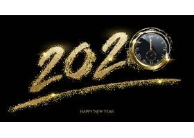 创意金色钟表2020素材