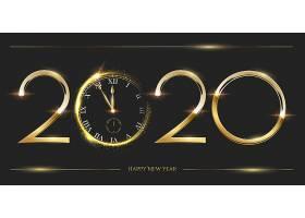 黑金色钟表2020素材