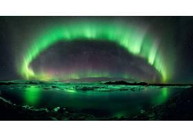 127493,地球,曙光,北极星,自然,水,夜晚,明星,湖,壁纸