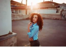 1003044,女人,模特,妇女,女孩,黑色,头发,深度,关于,领域,棕色,眼