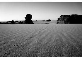 874800,地球,沙漠,黑色,白色,阿尔及利亚,撒哈拉沙漠,非洲,沙,岩