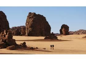 876506,地球,沙漠,塔斯丽,沙,岩石,撒哈拉沙漠,非洲,风景,阿尔及