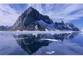 288162,地球,反射,山,雪,冰,岩石,水,风景优美的,自然,风景,蓝色,