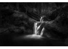 602540,地球,瀑布,瀑布,自然,水,溪流,岩石,黑色,白色,壁纸
