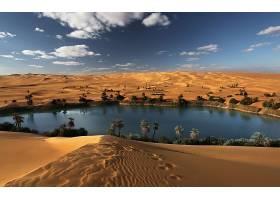 278837,地球,沙漠,绿洲,风景,水,湖,沙,自然,撒哈拉沙漠,壁纸