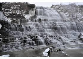 693478,地球,阿尔宾,瀑布,瀑布,瀑布,岩石,加拿大,黑色,白色,壁纸