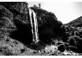 693634,地球,卡拉科尔,瀑布,瀑布,瀑布,自然,巴西,黑色,白色,壁纸