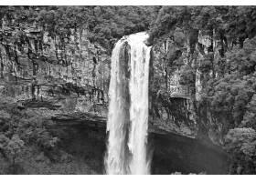 693638,地球,卡拉科尔,瀑布,瀑布,瀑布,自然,巴西,黑色,白色,壁纸